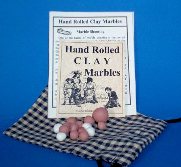 Hand Rolled Clay Marbles