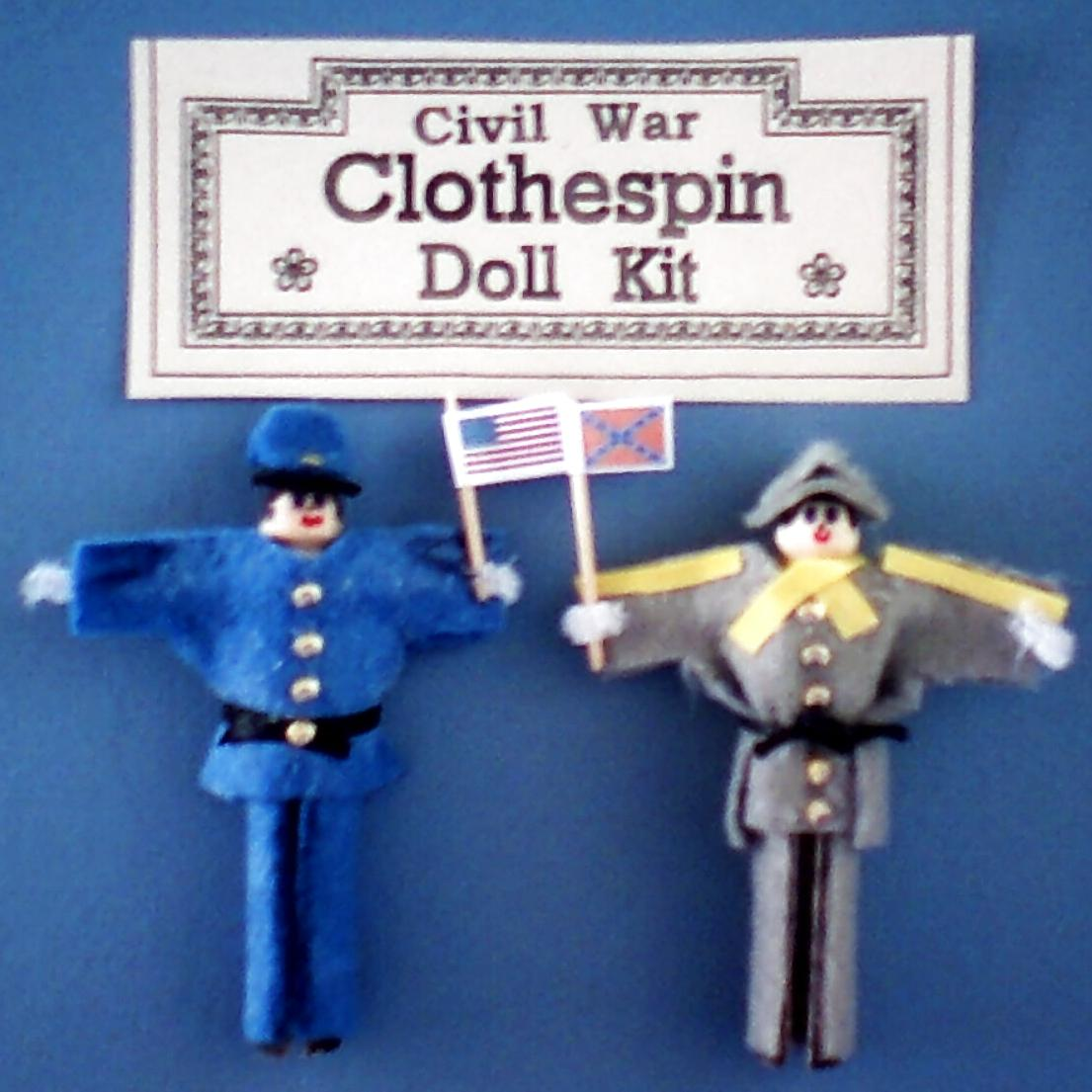 Civil war clothespin dolls